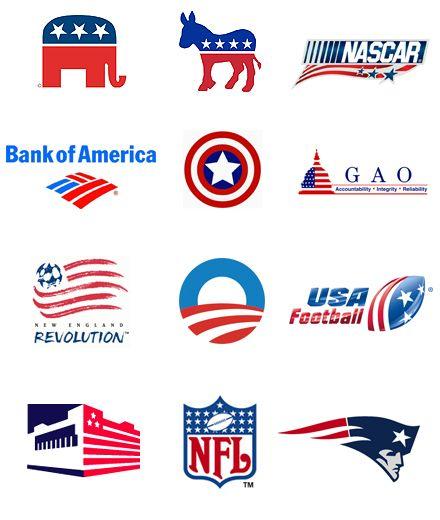 Usa Flag Logos Design Logos Pixel Art