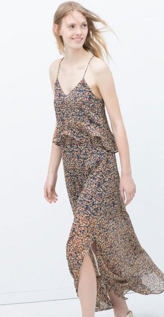 Zara Uzun Baskili Yazlik Elbise Modeli Kadinlive Com Elbise Modelleri Elbise Moda Stilleri