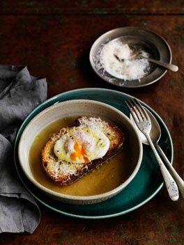 Zuppa Pavese | Recipe | RECIPES | Food recipes, Soup recipes
