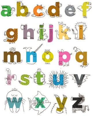 Ciao Bambini Taglia E Cuci Le Lettere Dell Alfabeto Tipografia Alfabeto Alfabeto Degli Animali Lettering Creativo