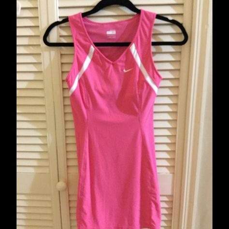 Classic Pink Nike Tennis Dress Xs Cute Tennis Dress Form Fitting Size Xs Short Not Worn Much Excellent Condition Nike Other Nike Tennis Dress Tennis Dress Pink Nikes