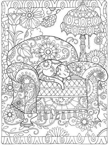 Creative Cats Coloring Book For Adults | Cat colors, Anti stress and ...