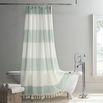 Ugg Napa 84 X 72 Yarn Dyed Stripe Shower Curtain In Agave