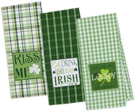 Dii St Pattys Day Dishtowel Set Of 3 18x28 100 Cotton