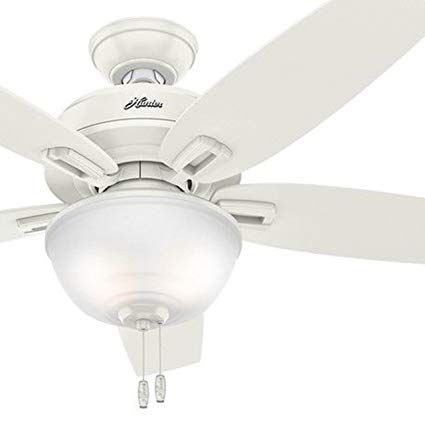 Hunter 48 Outdoor Ceiling Fan In Fresh White With Bowl Light Kit Certified Refurbished Review With Images Ceiling Fan Outdoor Ceiling Fans