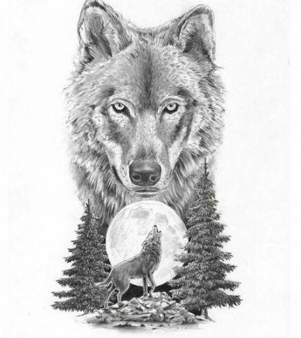 Tattoo Wolf Moon Nature 67 Ideas Howling Wolf Tattoo Wolf Tattoo Design Wolf Tattoos