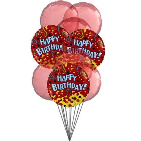 Happy Birthday Balloons With Colour Of Love