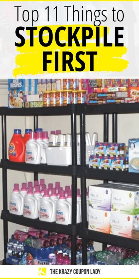 Top 11 Things to Stockpile First Emergency Preparedness Food, Emergency Preparation, Emergency Supplies, Emergency Kits, Survival Food, Survival Tips, Survival Skills, Survival Shelter, Survival Stuff