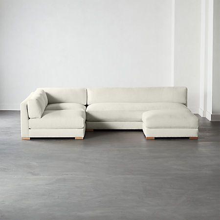 Piazza 4 Piece Modular Full Sofa Sectional Cb2 Modern Sofa Sectional Modern Sectional Sectional Sofa