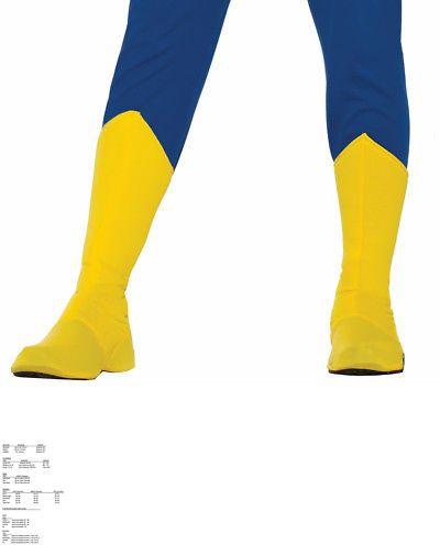 Adult Superhero Shoe Covers Boot Tops Blue Unisex Costume Accessory LRG