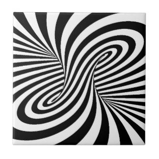 Black And White Optical Illusion Ceramic Tiles | Zazzle