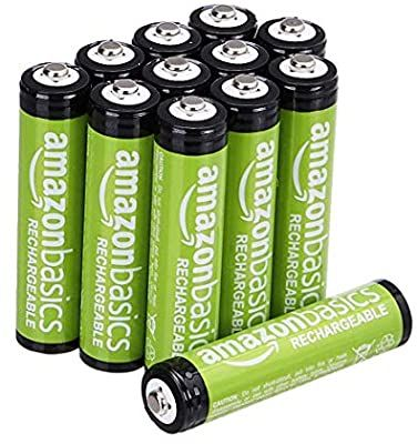 Amazon Com Amazonbasics Aaa Rechargeable Batteries 800 Mah Pre Charged Pack Of 12 Appearance May Vary Home Audio Rechargeable Batteries Nimh Recharge