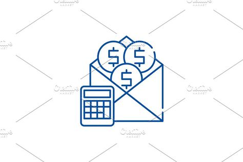 Salary line icon concept. Salary
