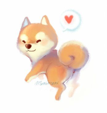 Shiba Inu Chibi Dog Dog Illustration Cute Drawings