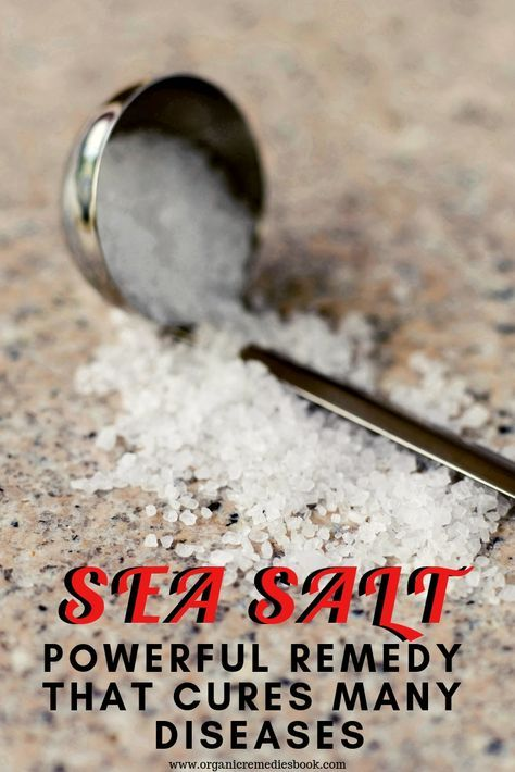 Sea Salt -Powerful Remedy That Cures Many Diseases | Natural