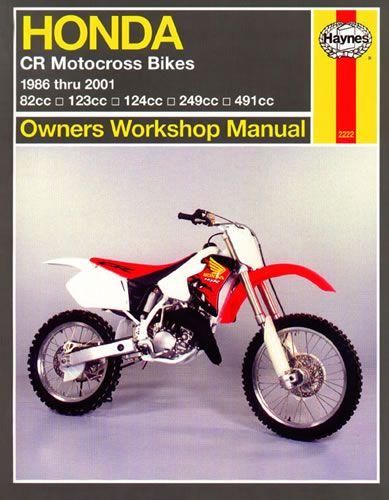 Haynes Service Manual Honda Cr125 1986 01 Motorcycle Products Ltd Honda Cr Motocross Bikes Honda