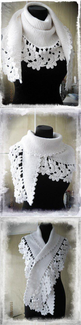 11 mejores imágenes sobre bufandas en Pinterest | Patrón gratis ...