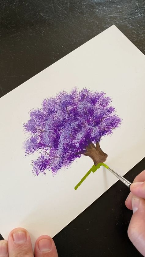 🎨 Here's an easy, simple, and satisfying video on painting a jacaranda tree. These trees are one of the most beautiful Southern California trees. They bloom bright purple! See more art and inspiration in my artist website BoelterDesignCo.com