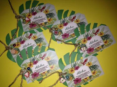 Ideas De Tarjetas De Invitación Para Fiesta Hawaiana