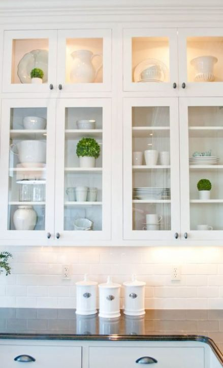 Trendy Kitchen Cabinets Glass Doors Display 26 Ideas Glass