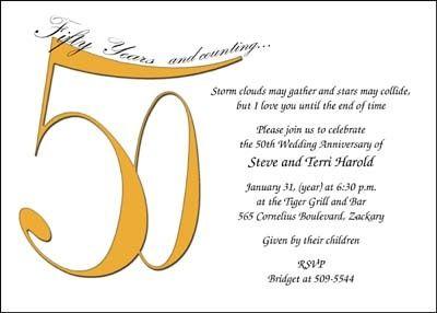 50th wedding anniversary Party ideas Pinterest Wedding