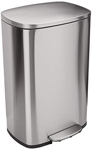White Stainless Steel Garbage Can