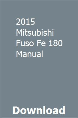 2015 Mitsubishi Fuso Fe 180 Manual Fleetwood Bounder Chilton Repair Manual Fleetwood