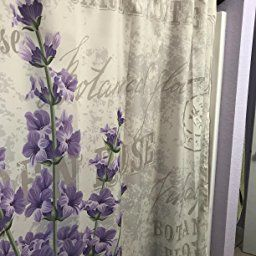Amazon Com Lavender Shower Curtain By Ambesonne Vintage Postcard