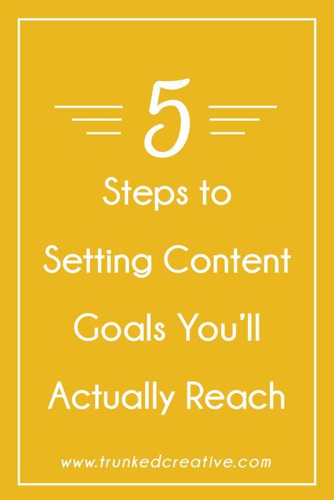 How to Set Breakthrough Content Goals You'll Actually Reach