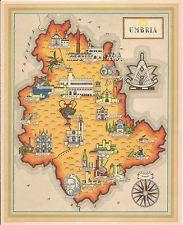 Cartina Geografica Italia Umbria.Carta Geografica Regione Umbria Geografia Vintage E
