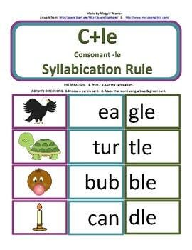18+ Syllable spelling rules worksheets Images
