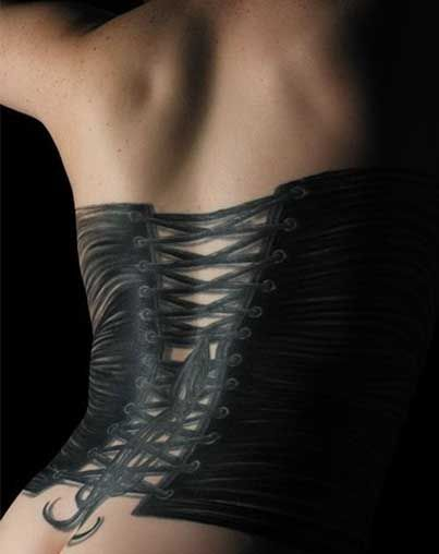 Corset tattoo This is the sexiest tatoo I have ever seen! If I was going to get a tatoo, this would be it!