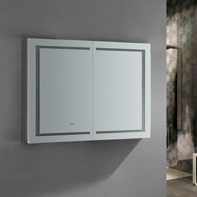 Recessed Or Surface Mount Frameless Aluminum Medicine Cabinet