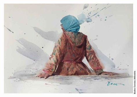 45 Watercolor Paintings by Brazilian Artist Eudes Correia