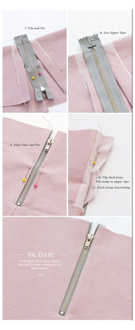 How To Sew An Exposed Zipper With A Seam How To Sew Zipper Pants Howtosewzipperpants Lately We Have Sewing Techniques Sewing Hacks Sewing Tutorials