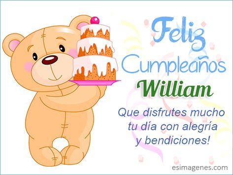 Imagen de feliz cumpleanos william