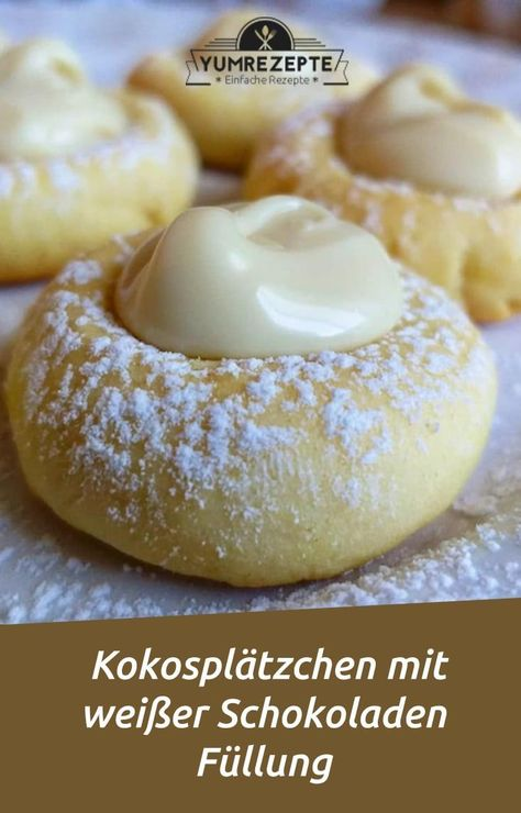 Coconut Cookies with White Chocolate Filling - Yum Recipes - My Blog -  Coconut Cookies with White Chocolate Filling Yum Recipes Coconut Cookies with White Chocolate Filli - #blog #Breakfast #BreakfastCasserole #BreakfastRecipes #BrunchRecipes #chocolate #coconut #cookies #filling #recipes #white #Yum