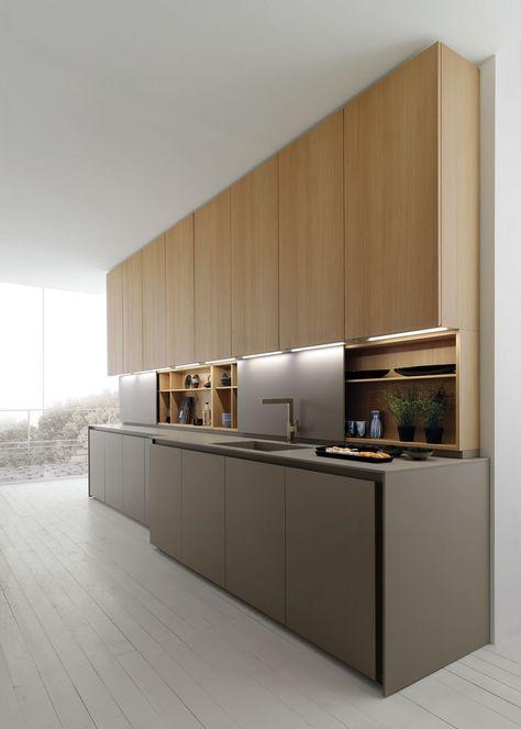 Cucina: contenere di più con tanti pensili o pensili grandi ...