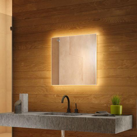 Miroir De Salle De Bain Retro Eclaire Avec Prise Rasoir K702bl
