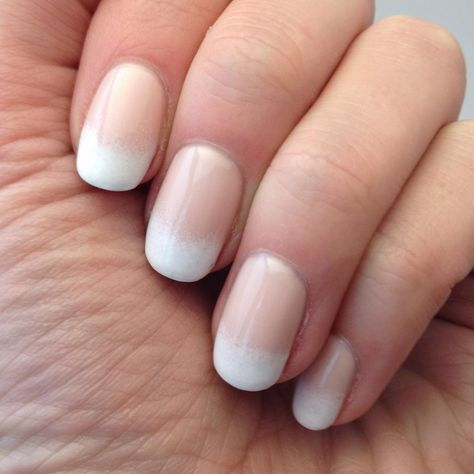 For soft, pretty nails, try a gradient reminiscent of a classic French manicure. Get the look by sponging white polish on the ends of your nails over a nude shade. This mani is perfect for brides looking for something special on their big day.