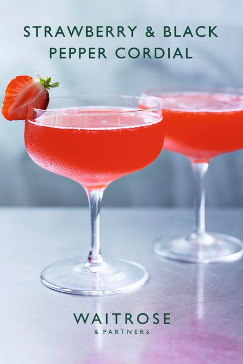 This recipe makes great use of in-season British strawberries. Enjoy on its own or add to a daiquiri for a sophisticated summer drink.  Tap for the full Waitrose  Partners recipe.