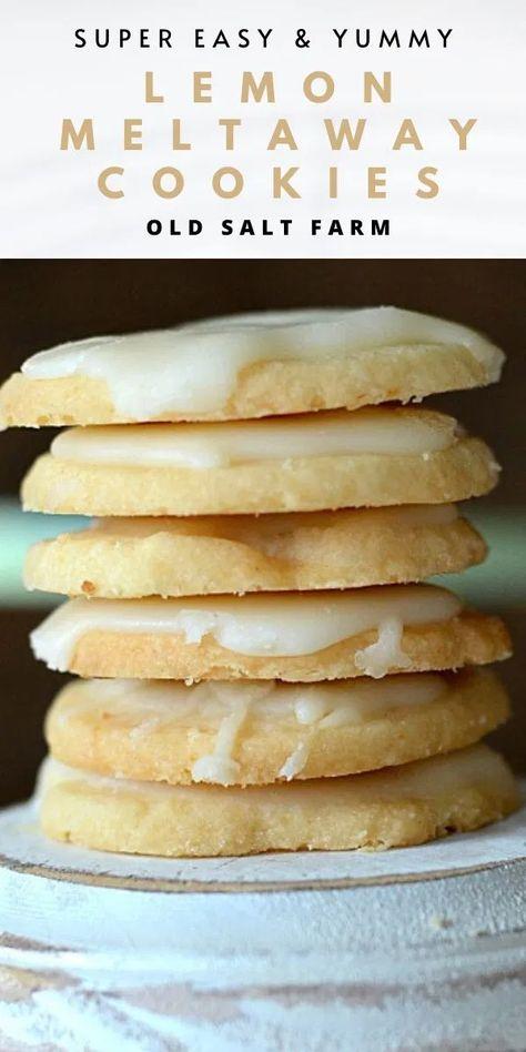 Lemon Meltaways Cookie Recipe | #lemoncookies #cookierecipes #easycookies #lemonrecipes #quickcookies #shortbreadcookies