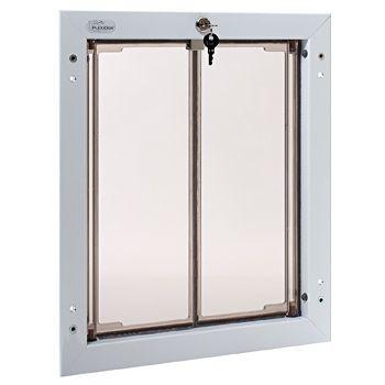 Door-mount doggy door that's energy efficient.
