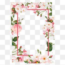 Pink Flower Borders Color Flowers Frame Png And Vector Flower Frame Png Flower Border Png Floral Wreaths Illustration