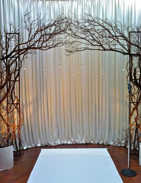 branches are awesome i would have this in the middle of the woods though maybe one day #WeddingBackdrop #ArchPhotoBooths