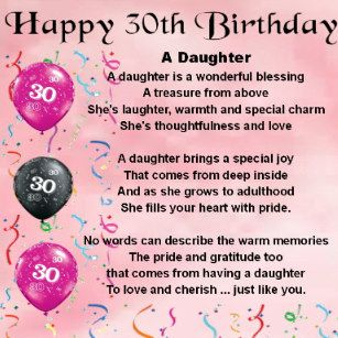 Image Result For Happy 30th Birthday Daughter With Images 21st