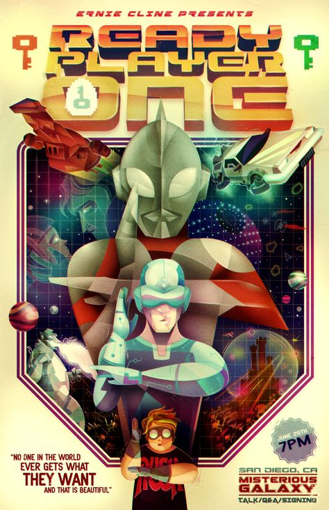 and a book...Ready Player One by Ernest Cline, amazing book for