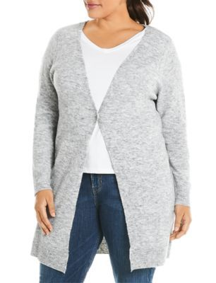 Estelle Plus Maddison Long Cardigan - Gray