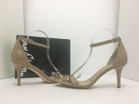 5d2c59968ece Sam Edelman Patti Classic Nude Patent Women s High Heels Sandals US Size  9.5 M