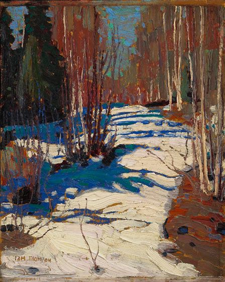 Tom Thomson Path Behind Mowat Lodge 1917 Courtesy and © Art Gallery of Ontario